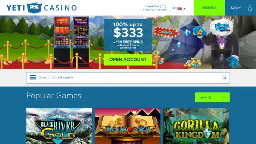 Yeti Casino Bonus Code